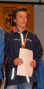 Anton bei der Siegerehrung