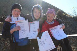 D-Cup Schüler: Konrad, Nilas, Annika (Anton fehlt)
